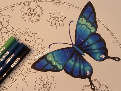 How I color a butterfly   MAGICAL JUNGLE by Johanna Basford