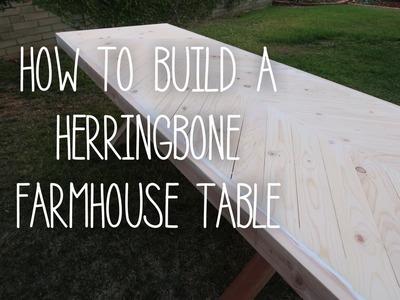 How To Build A Herringbone Farmhouse Table