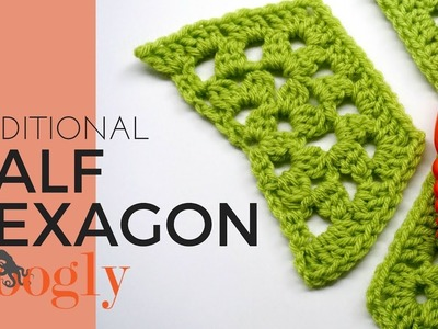 How to Crochet: Half Traditional Hexagon (Right Handed)