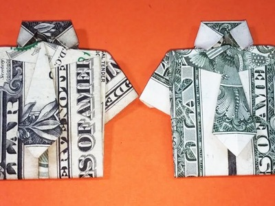 How to Fold Origami Money T Shirt & Tie Tutorial