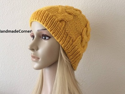 How to Knit a Beanie Hat Pattern #71│by Lilu's Handmade Corner