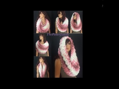 How to Knit a Cowl.Neckwarmer Pattern #70│by ThePatternfamily