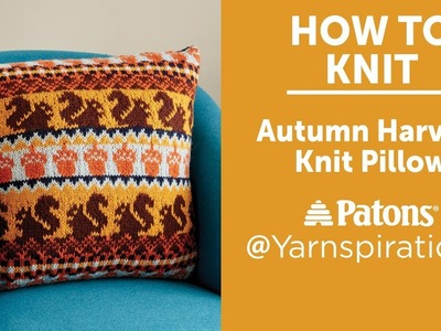 How to Knit: Autumn Harvest Pillow