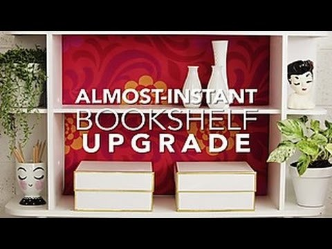 How to Make a Bold Bookcase Backing - HGTV