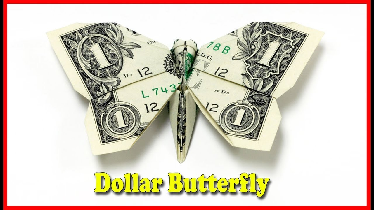 how to make a money origami butterfly tutorial diy