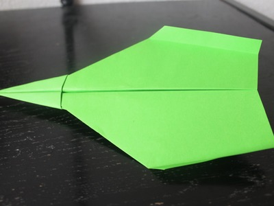 How to make a paper airplane that glides for a long time