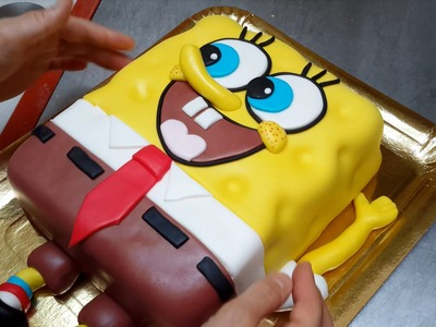 How To Make a SPONGEBOB Cake Torta Bob Esponja by Cakes StepbyStep