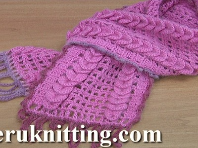 How to Make Crocheted Scarf Tutorial 173