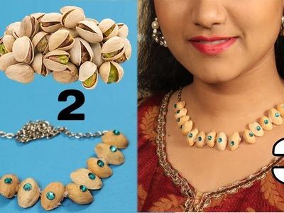 How to Make ( DIY ) Necklace Pistachio Shells (Pista Shells) | DIY Crafts