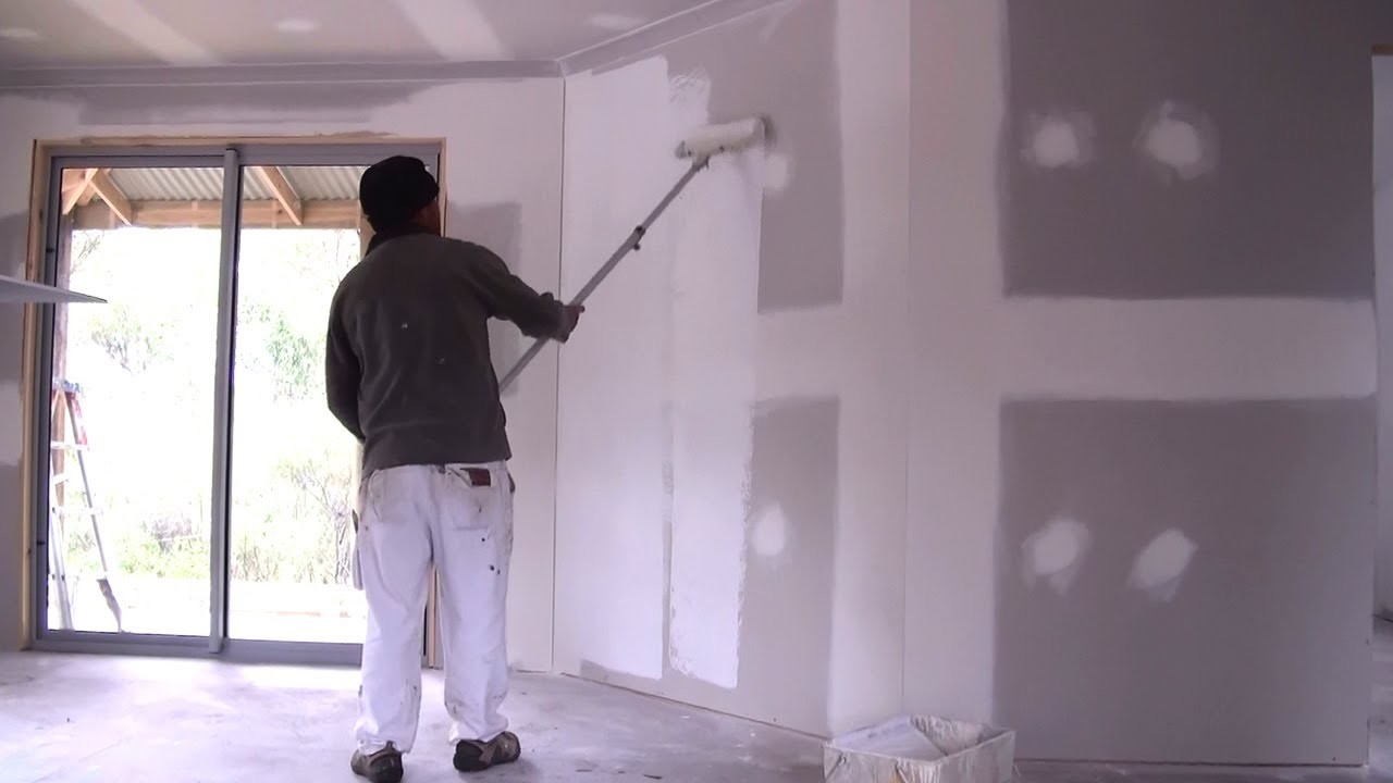 How To Prime A Wall - How To Apply Primer Sealer To New Drywall or Plaster Board Walls