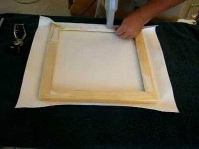 How to stretch wrap a canvas giclee print