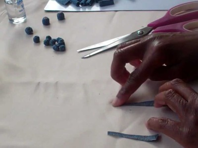 Jewelry Tricks - Make Jewelry From Jean Material Part 1