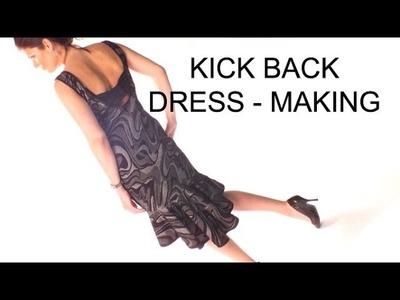 KICK BACK. Bow back dress making