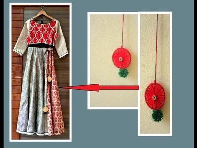 Latkans. tassels making from Old bangles for Lehengas,Long Kurtas,Ghagaras | DIY