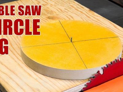 Make a Table Saw Circle Cutting Jig