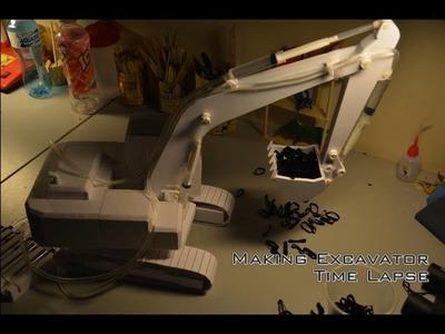 Making DIY Hydraulic Excavator Video Time Lapse