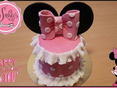Minni Mouse Geburtstagsorte.Minni Mouse Birthdaycake. how to make by Sanny´s e-Sport Torten
