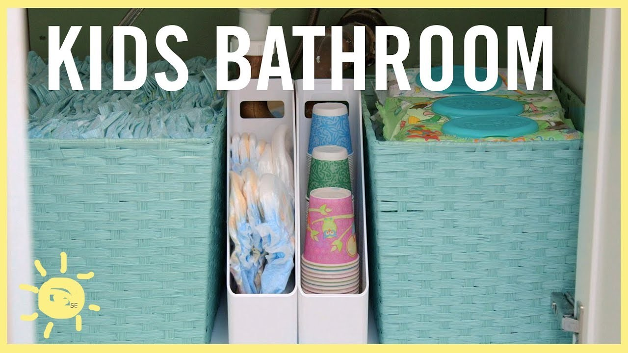 ORGANIZE | Kids Bathroom!! (Easy Tips)
