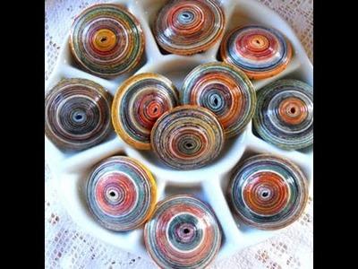 ♻ Paper Beads   Saucer Shaped Beads & Bells