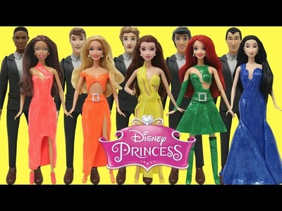Play Doh Disney Prince & Disney Princesses Ariel Belle Aurora Mulan and Nikki Barbie Doll