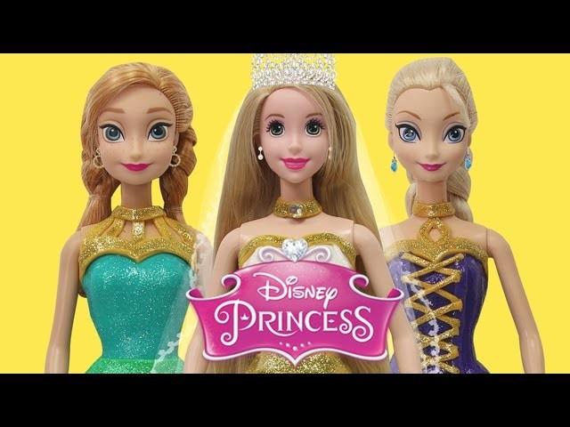 Play Doh Disney Princess Anna Elsa Frozen Rapunzel Wedding Dress