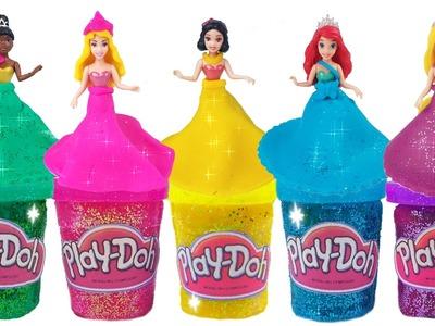 Play Doh Sparkle Disney Princess Dresses Ariel Elsa Rainbow Compilation Episode 2 ToyBoxMagic