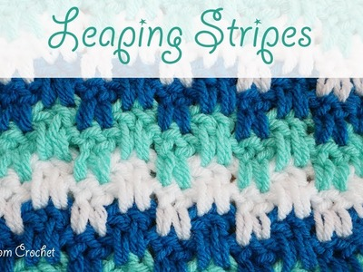Simple Crochet - Leaping Stripes blanket. scarf