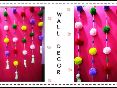 Simple Wool Wall Decor   Room Decor Idea using Yarn