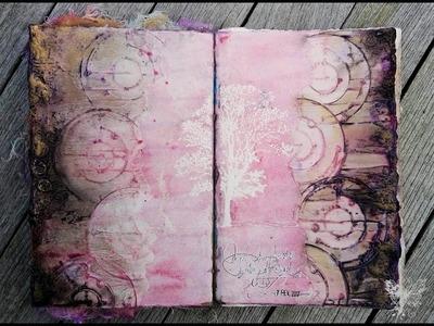'So emotional'.  art journaling