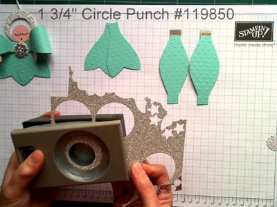 Stampin' Up! Angel Christmas Tree Ornament using The Gift Bow Bigz Die from Stampin' Up!