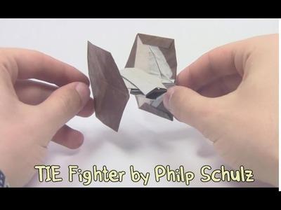 Star Wars Origami TIE Fighter by Philp Schulz - Yakomoga Origami tutorial