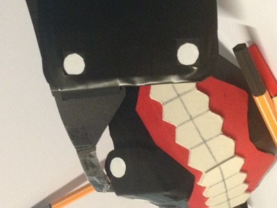 Tokyo Ghoul Mask Tutorial. How to Make: Tokyo Ghoul Kaneki's Mask Ver. 2.0 Part 3