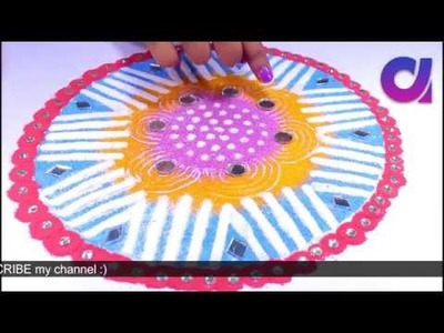 5 Beautiful & Easy Rangoli Designs for Diwali using tea cups | Artkala 322