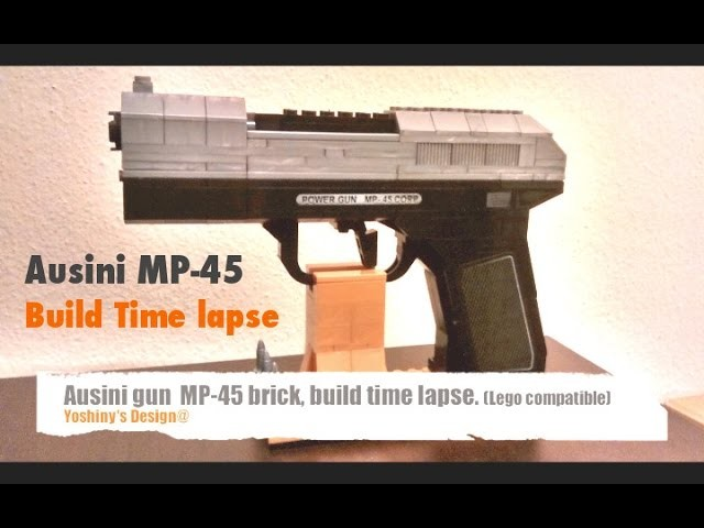 Ausini brick gun MP-45 build Time lapse (Lego compatible)