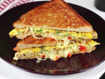Bread omelet sandwich recipe | How to make omelette sandwich recipe