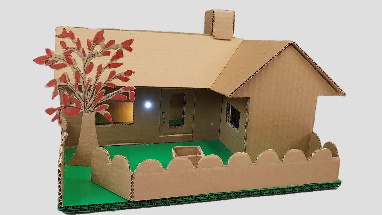 Building cardboard house garden villa dream house my for How to make a house from cardboard box
