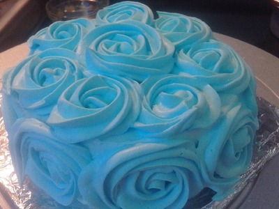 Cake With Flower Design Decoration Made At Home