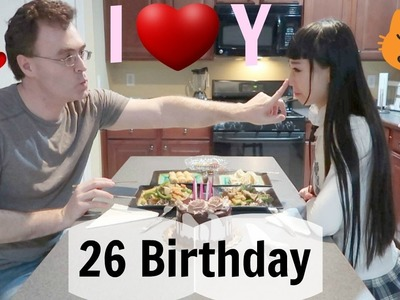 Celebrating 26 Birthday With My Parents & Boyfriend | Mom Sings for Me ^^