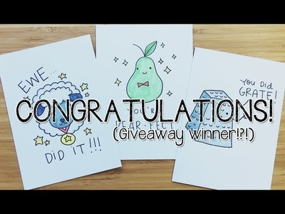 Congratulations PUNS greeting cards~! | Doodle with Me