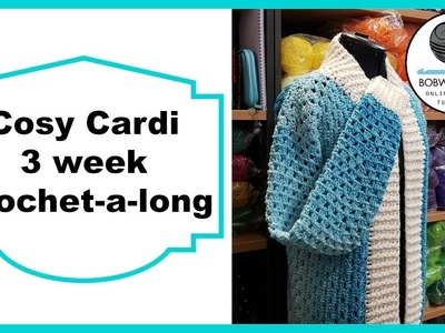 Crochet Cosy Cardi Tutorial Pt 6 of 8 Short Sleeves