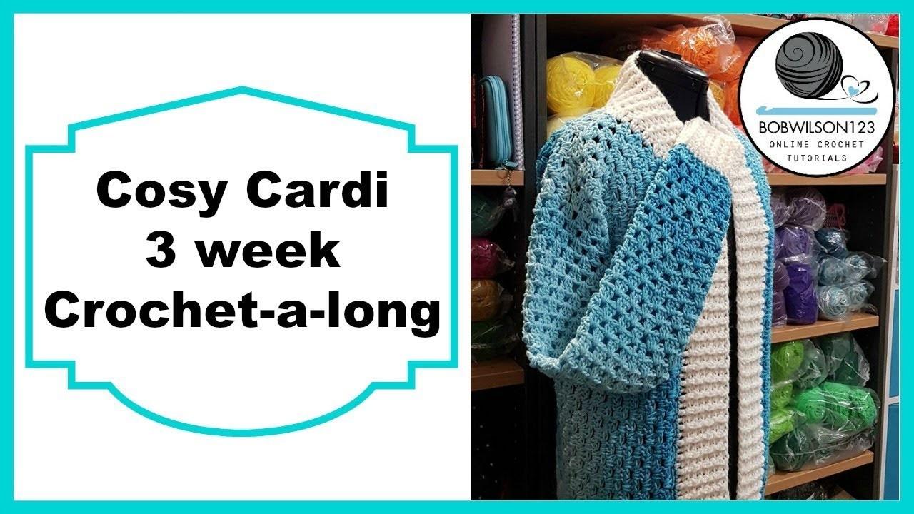 Crochet Cosy Cardi Tutorial Pt 6 of 8 Short Sleeves