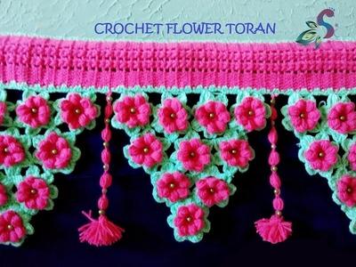 CROCHET TORAN PATTERN   FLOWER TORAN #15