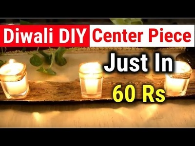 Diwali Decorations DIY - Make Amazing CenterPiece For Table Decoration at home Just in Rs60