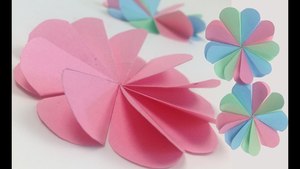 Diy Crafts Origami Easy Paper Flowers Tutorial How To Make Simple