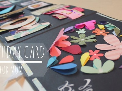 DIY: Cutest Birthday Scrapbook Idea for MOM | Easy Cards Idea
