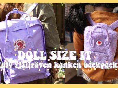 DIY FJÄLLRÄVEN KÅNKEN BACKPACK | DOLL SIZE IT #7