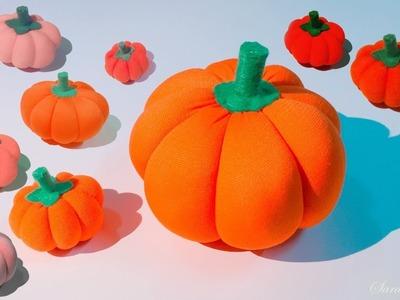 DIY - Halloween decoration. make the pumpkin by cloth