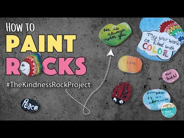 DIY How to Paint Rocks   The Kindness Rock Project   Easy Kids Craft