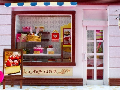 DIY Miniature Dollhouse Kit With Working Lights, Cake Love.