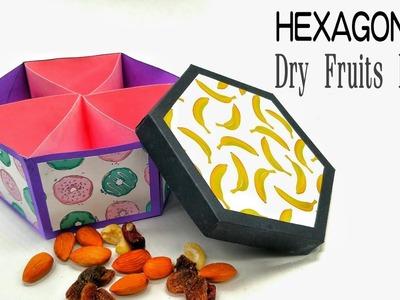 Dry Fruit Box (Hexagonal) for Diwali   Christmas   Eid - DIY   Tutorial by Paper Folds - 814